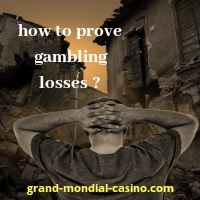 how to prove gambling losses