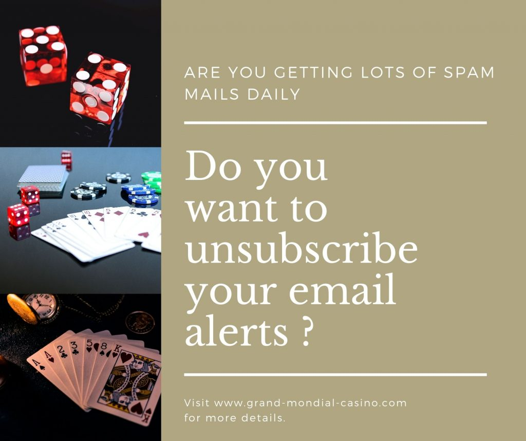 How to unsubscribe email alerts coming from online casino programs